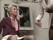 Анальная ретро груповушка зрелой тетки и её подруг